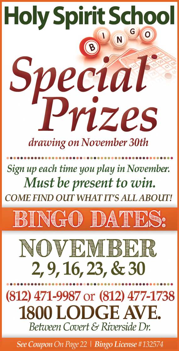 Holy-Spirit-Church-Bingo-Games-Schedule-Evansville-Indiana