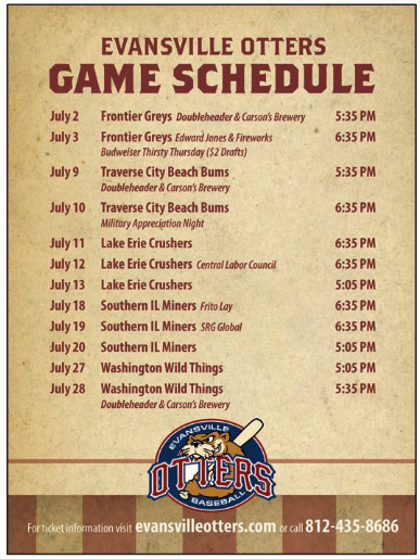 evansville-otters-baseball-summer-beer-what-to-do-fun-family-games
